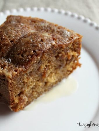 Image of Ocracoke Island Fig Cake slice on a plate.