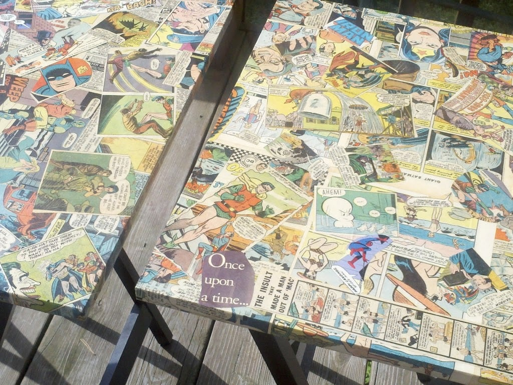 Cool Comic-Covered TV Tables!