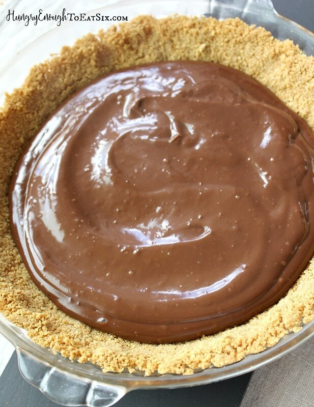 Layers of caramel, chocolate pudding and whipped cream spread over a buttery, graham cracker crust. It's an easy and delicious pie!