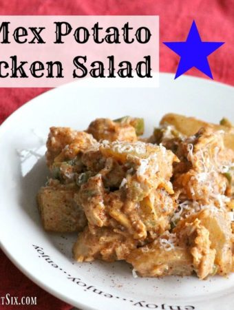 A potato salad with chicken and a spicy Southwestern kick!