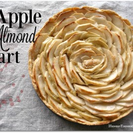 This Apple Almond Tart is as beautiful as it is sweet, toasty, and nutty! | HungryEnoughToEatSix.com
