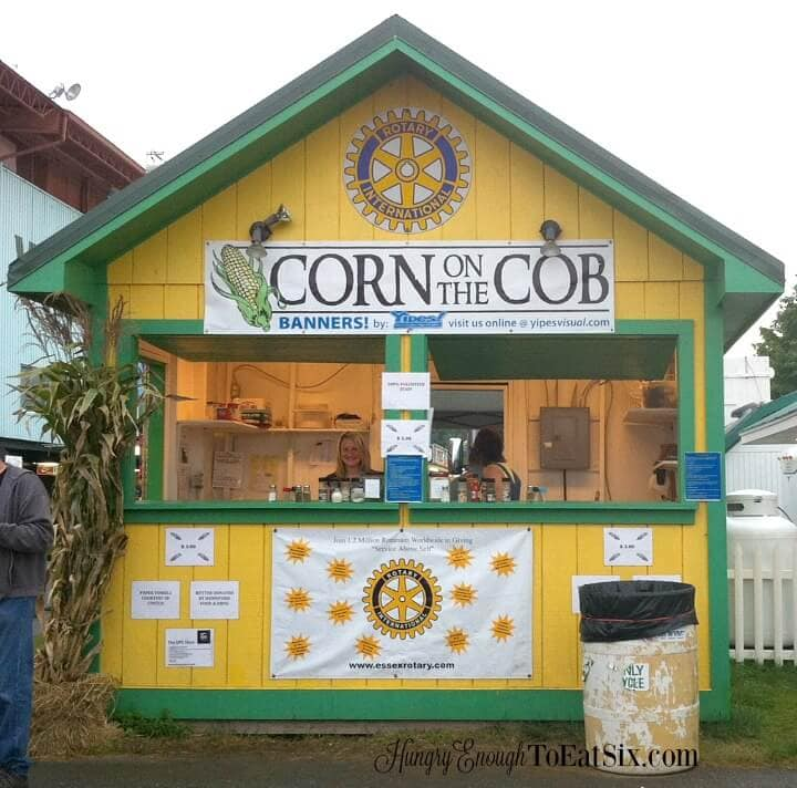 Image of Corn Booth at the Champlain Valley Fair