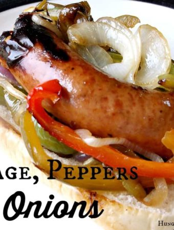 A warm, grilled roll loaded with soft peppers and onions, and savory sausage is my absolute favorite choice for lunch or dinner at the fair!