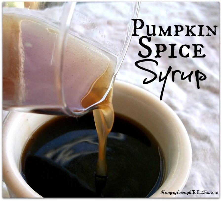 DIY Pumpkin Spice Syrup, for Coffee, Lattes, and Tea