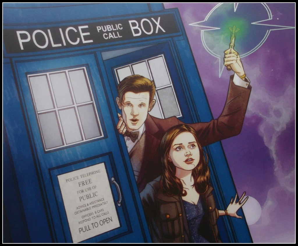 The 11th Doctor and Clara in the Tardis. By Blair D. Shedd, OneGemini.com