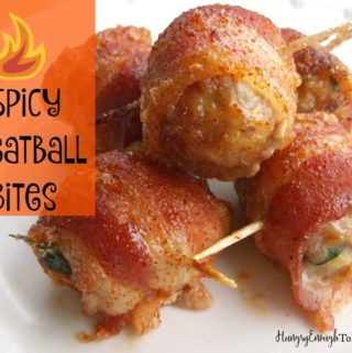 Spicy and sweet meatball bites, perfect appetizers for gatherings and parties!