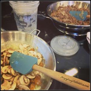 Preparing the Chicken Marsala Lasgana