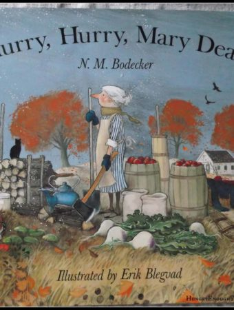 A children's book about autumn turning to winter. Full of beautiful illustrations, the story follows Mary as she puts up the harvest and prepares her home (and husband) for winter.