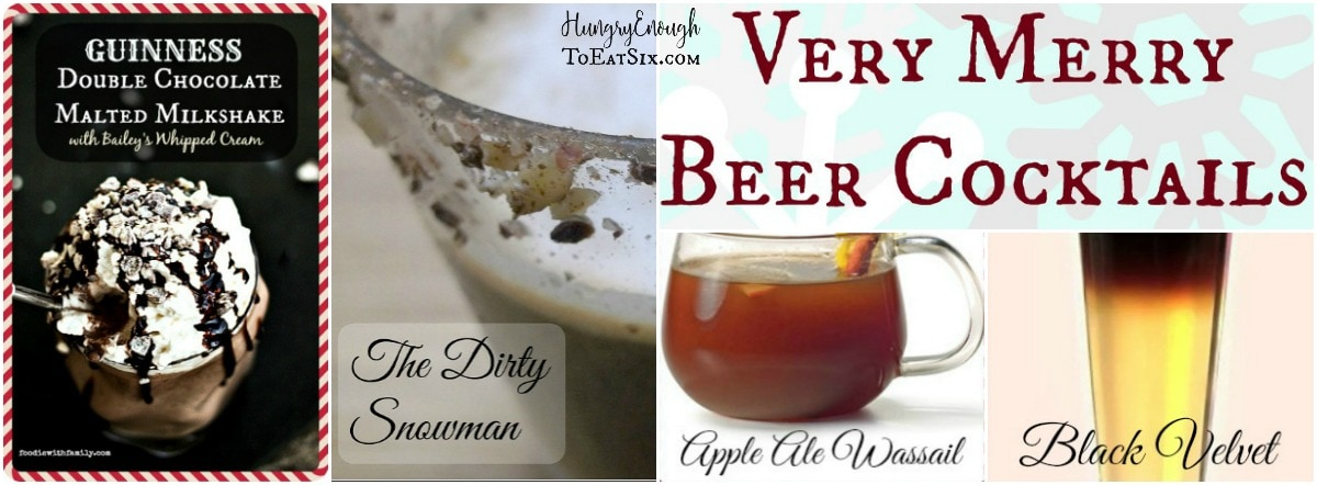 Pulled together here is a collection of delicious and creative holiday Beer Cocktails. I hope you (and I) get to try a bunch!