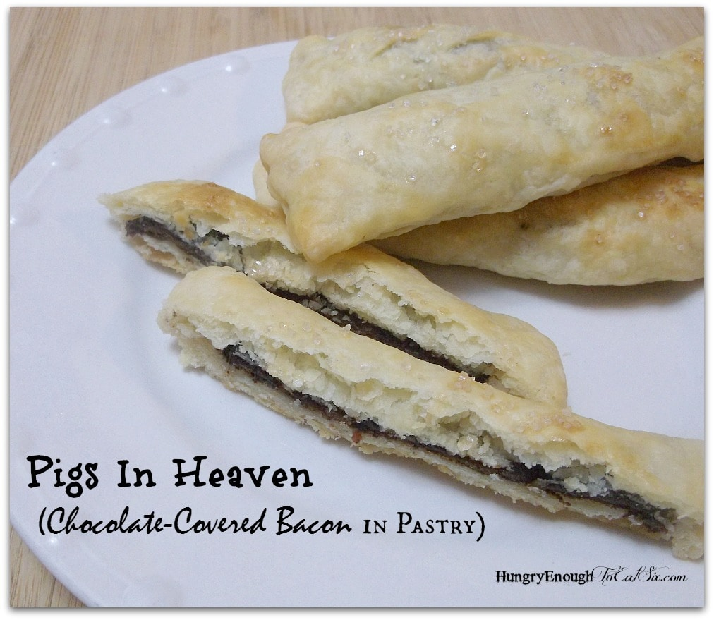 Pigs In Heaven (Chocolate-Covered Bacon in Pastry)