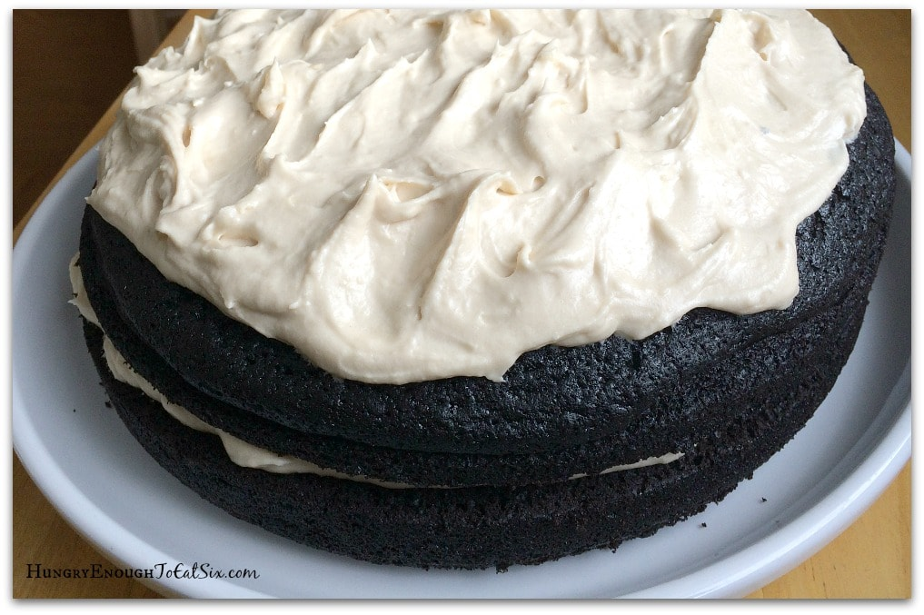 The winning finish: a Dark Chocolate Guinness Cake with Bailey's Frosting.