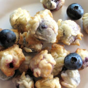 Browned, batter dipped blueberries