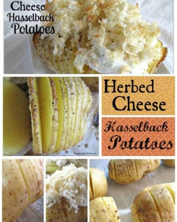 Today's 6-Ingredient Recipe is for Herbed Cheese Hasselback Potatoes. Have you ever tried making Hasselback Potatoes? They take a little up-front prep, but the end result is quite worth it. On HungryEnoughToEatSix.com.