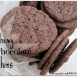 These Chewy Chocolate Thins cookies are delicious in their simplicity.