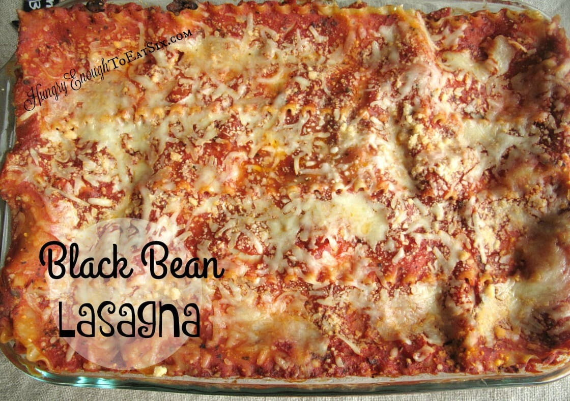 Black Bean Lasagna, from the Lasagna Off Competition! | HungryEnoughToEatSix.com