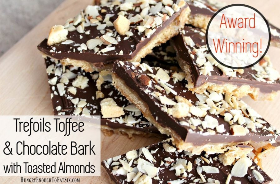 Image of Trefoils Toffee & Chocolate Bark with Toasted Almonds