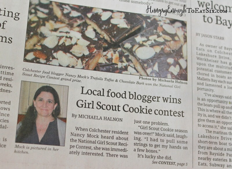 Recently I shared that my recipe was a finalist in the Girl Scouts Cookie Recipe Contest. Shortly after I learned that my recipe won the Grand Prize!