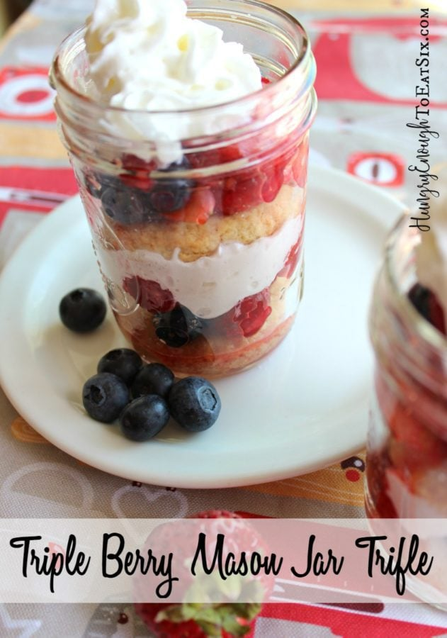 Triple Berry Mason Jar Trifle