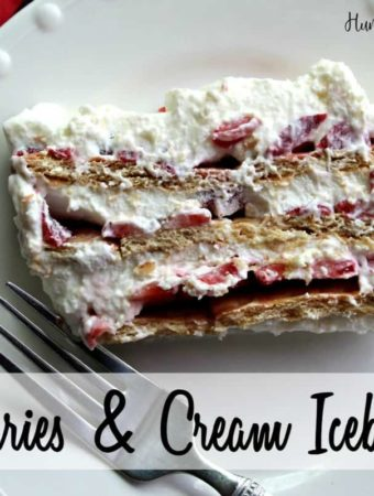 This icebox cake houses a favorite combination: strawberries and cream.