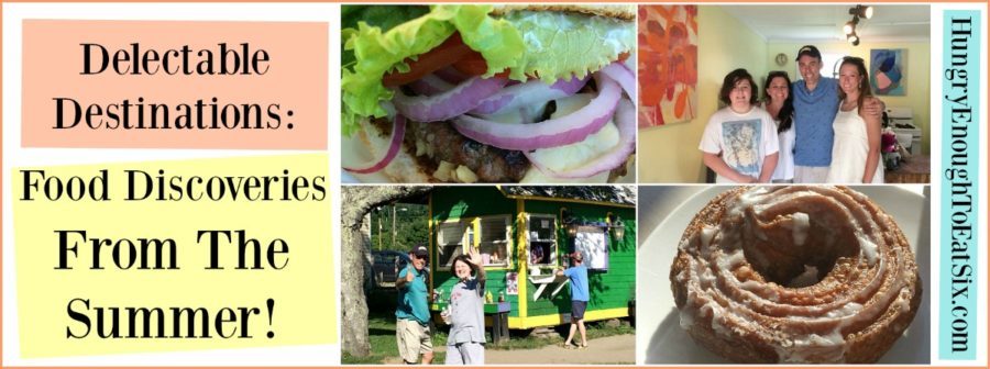 Food Discoveries From The Summer! Though we are now in the cool, crispy days of fall, I have been reflecting back on the food discoveries and adventures we had this summer. Local eateries, creative bakers and candy makers, and more!