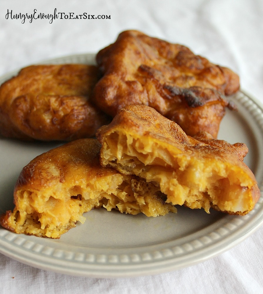 Savory fritters flavored with pumpkin, curry and potato!