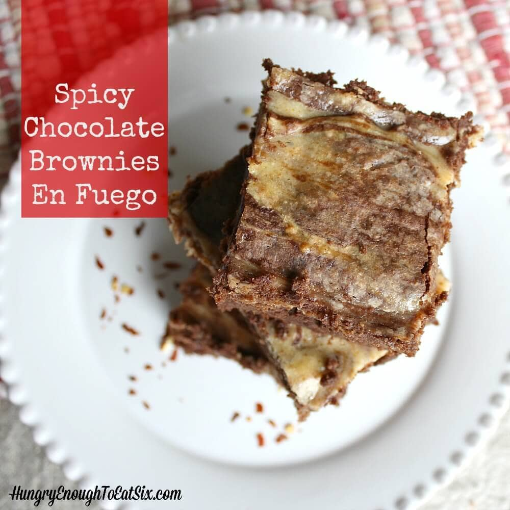 These brownies are rich, chocolatey and have a cream cheese swirl that packs some slow-building heat!