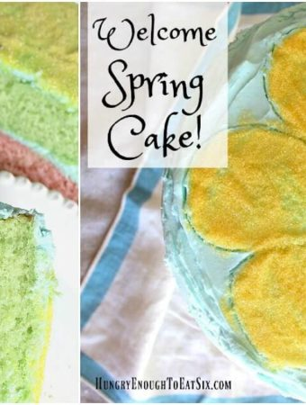 With bright colors outside and in, and a light citrus flavored-cake this is a perfect cake to celebrate Spring!