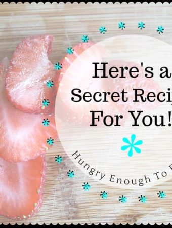 Here's a secret recipe for you! Subscribe to my newsletter and a receive a free copy of this recipe not available anywhere else!