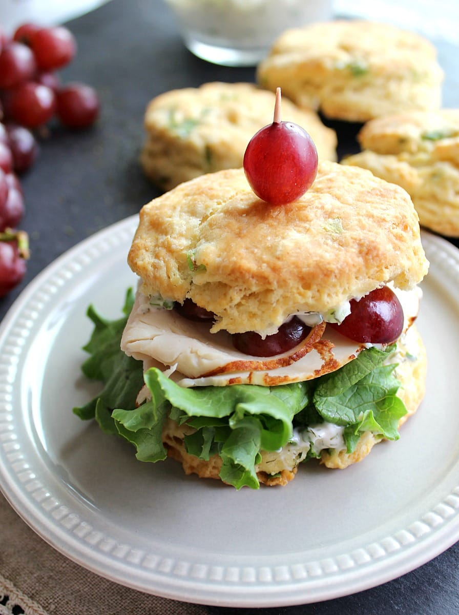 These savory sandwiches feature McKenzie Natural Artisan Chicken Breast with fresh red grapes and a dilly dressing.