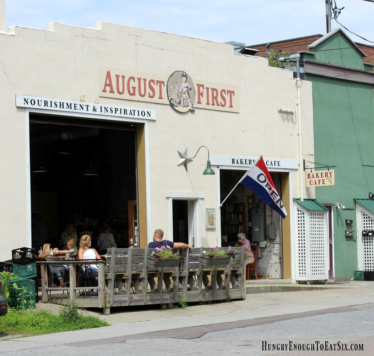 Our second stop on the King Arthur Flour Vermont Bakery Tour: August First Bakery in downtown Burlington!