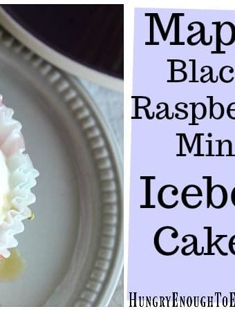 Maple Black Raspberry Mini Icebox Cakes! A miniature icebox cake with flavors of Vermont maple, black raspberry and sugar cone, all based on a favorite creemee flavor!