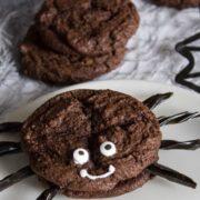 Closeup image of Halloween Spider Sandwich Cookie