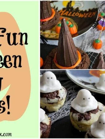 These sweet and spooky treats are perfect for a kids Halloween party or celebration, and are also fun to make with your kids!