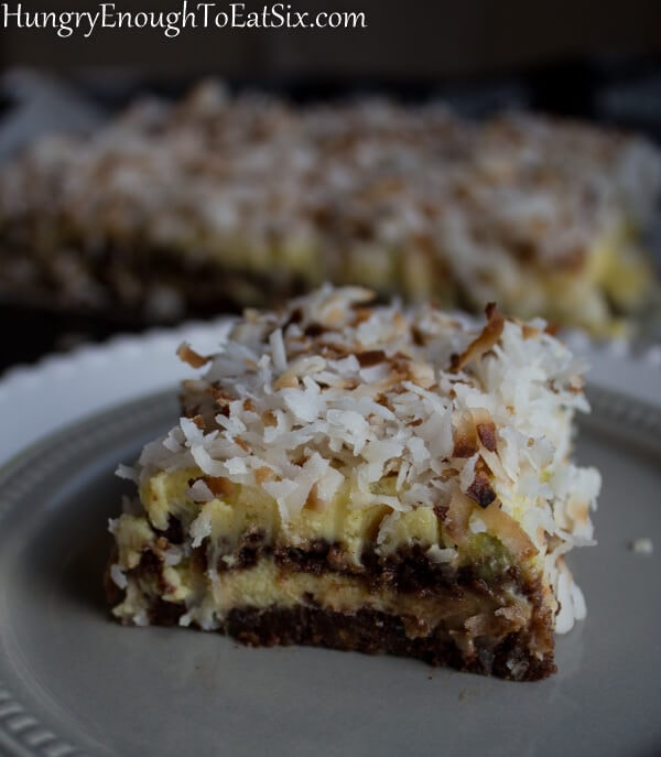 Cocoa, Lime & Coconut Napoleon Bars