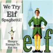 Remember the spaghetti scene from the movie Elf? Well, we took the Elf spaghetti challenge - check it out!