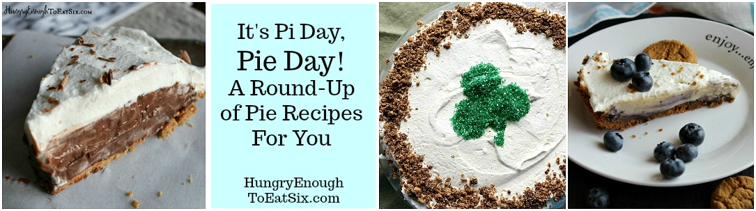 A round-up of pie recipes to celebrate Pi Day, March 14th!