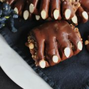 An homage to the Marvel movie 'Black Panther', these sweet chocolate rolls are filled with almond and chocolate, and decorated to look like black panther claws!