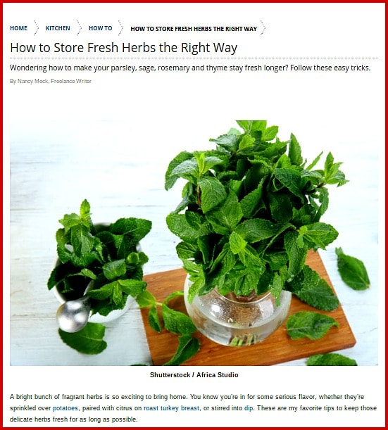 How To Store Fresh Herbs The Right Way: for Taste Of Home