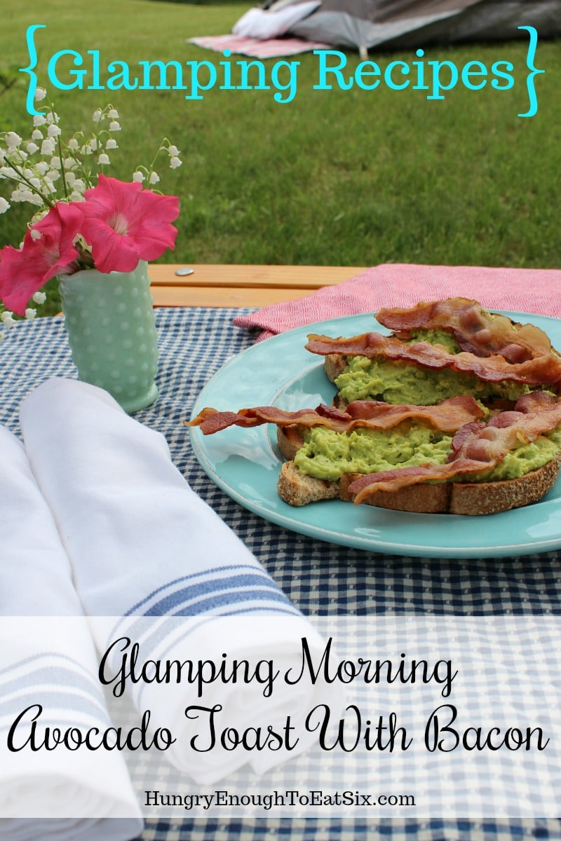 Image of Glamping Morning Avocado Toast
