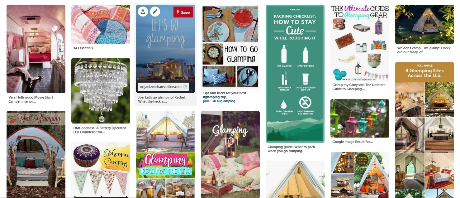 Image of Hungry Enough To Eat Six Pinterest board for Glamping Ideas