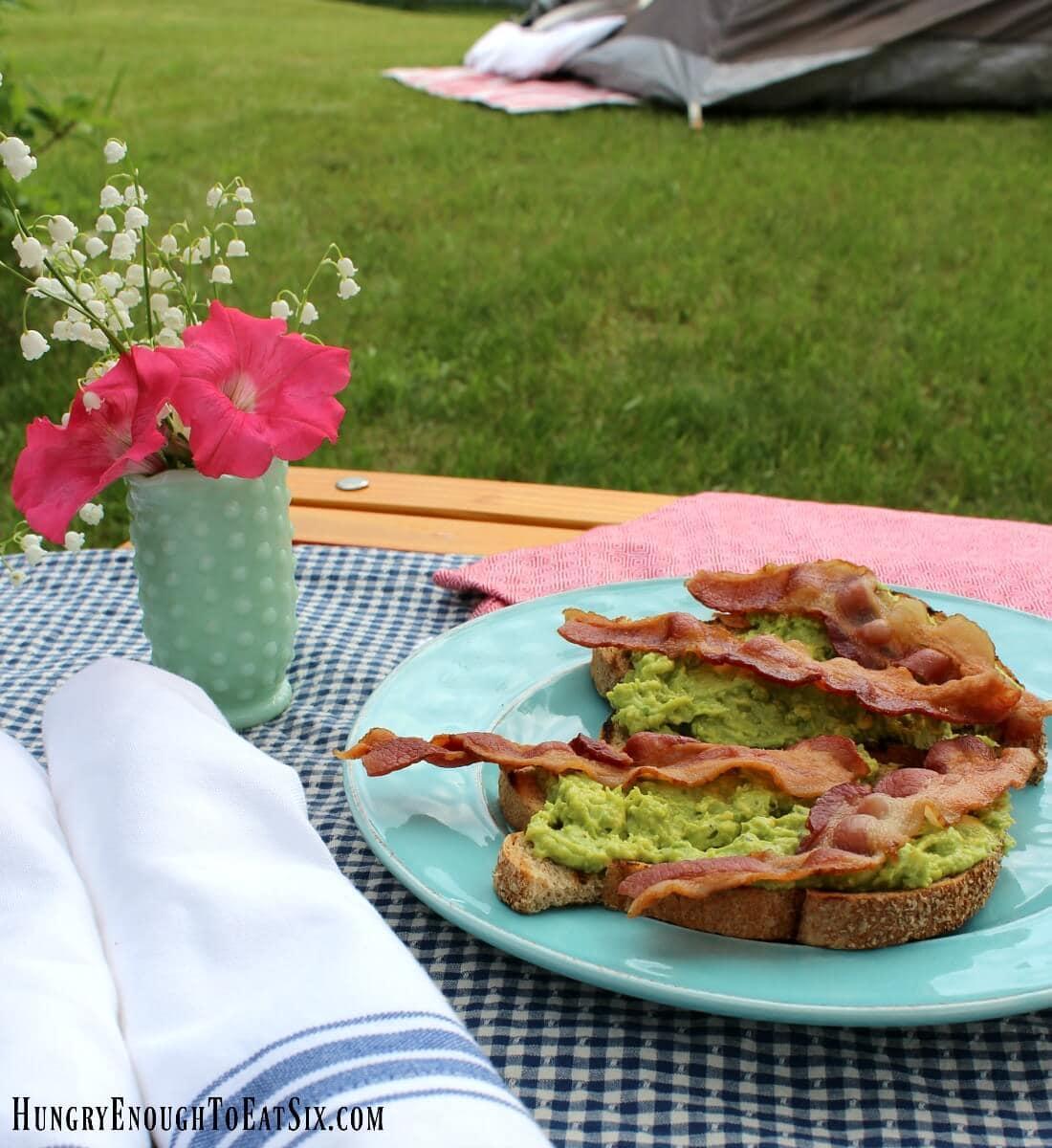 Image of Glamping Morning Avocado Toast
