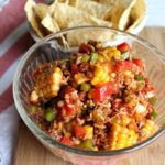 Chopped Taco Salad with Peppers, Beef & Sweet Corn