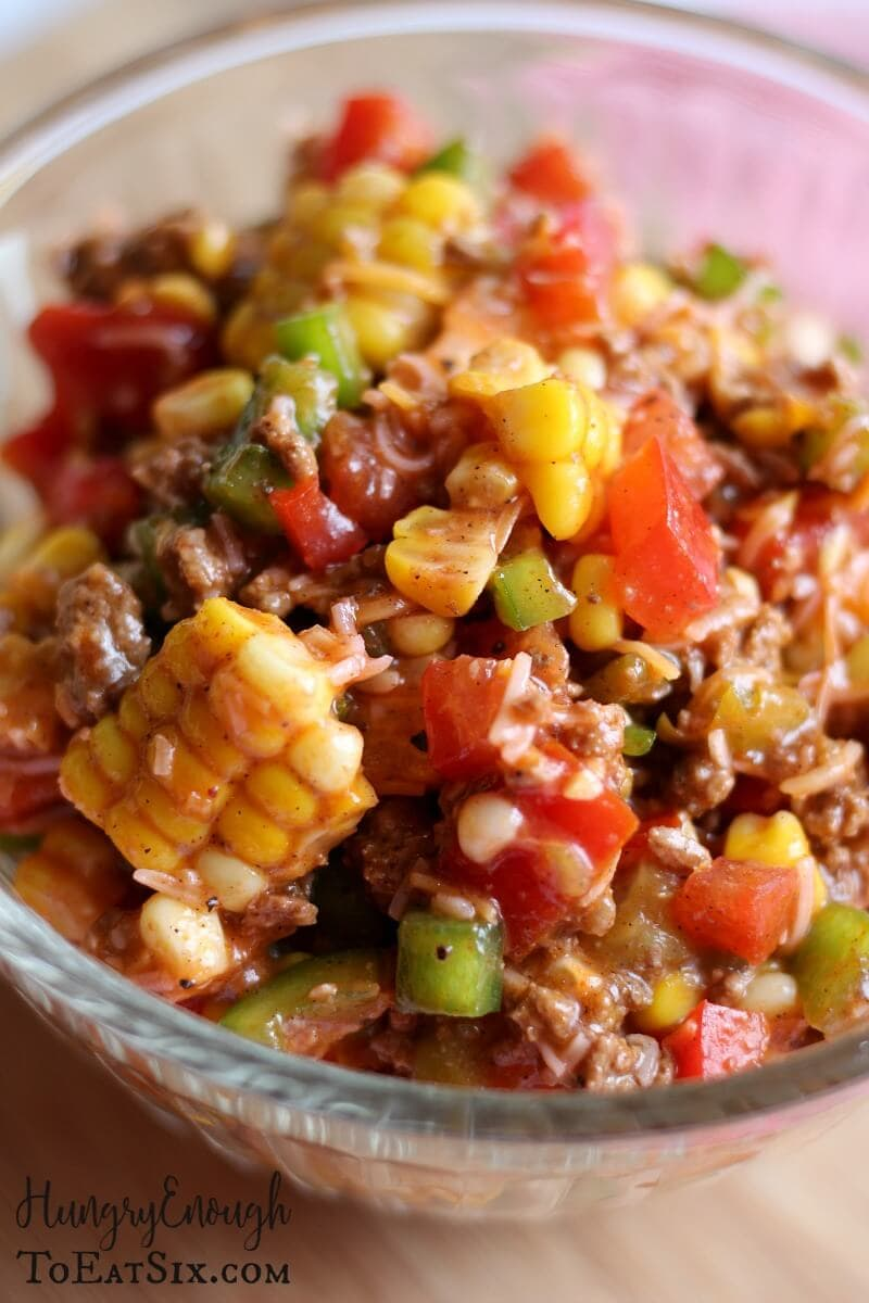Image of Chopped Taco Salad in a glass bowl