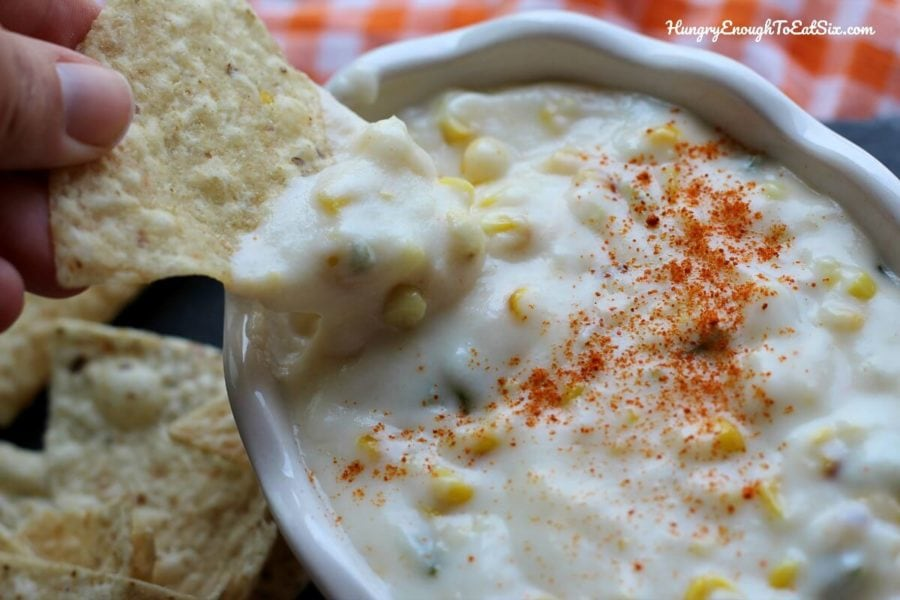 Grilled Corn & Jalapeño Queso Dip