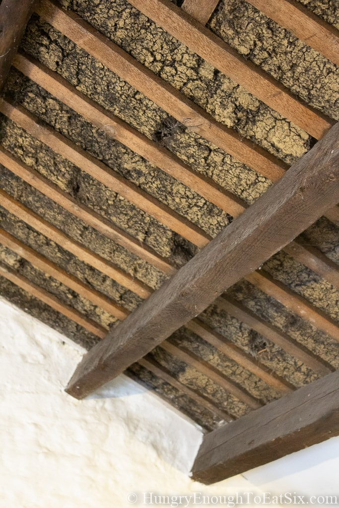 Image of the inside of a thatched roof
