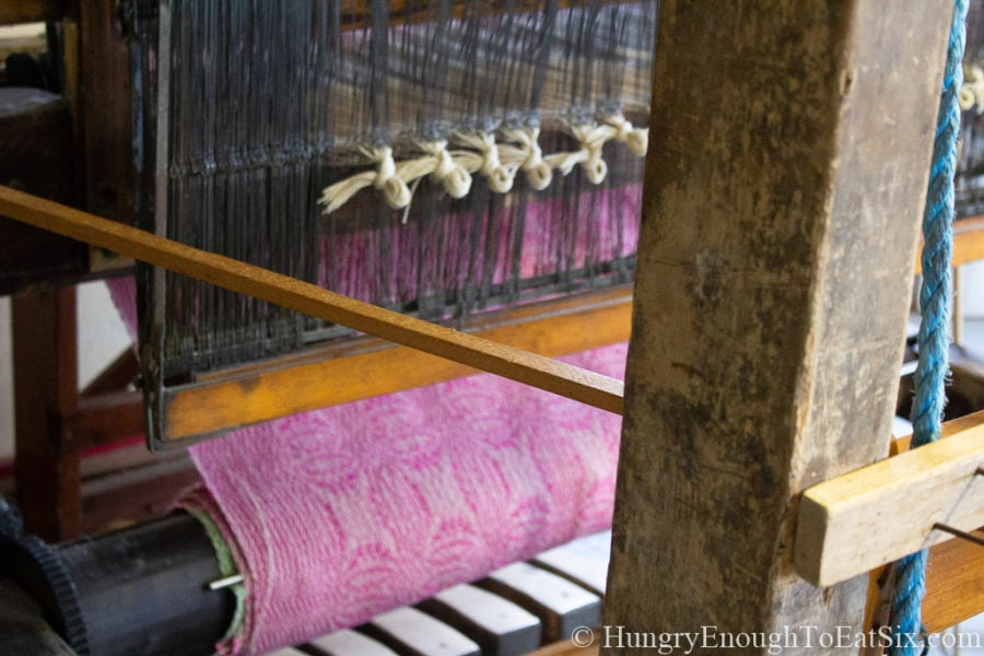Image of loom at Cyndi Graham Handweaving Studio