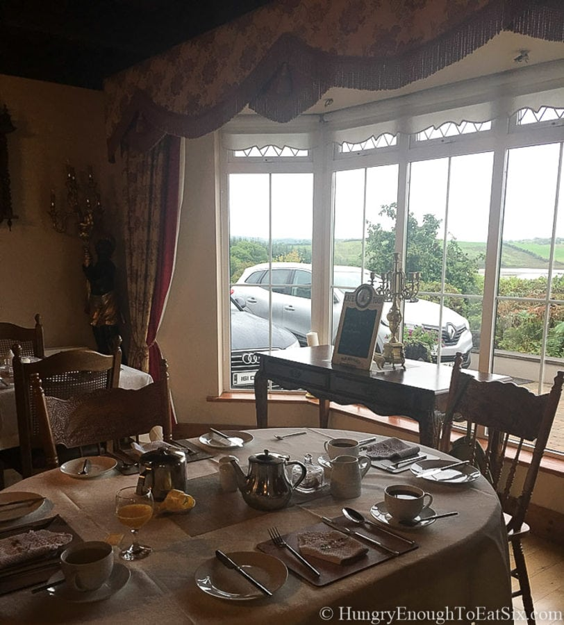 Image of dining room interior at Rossmore Manor, Donegal