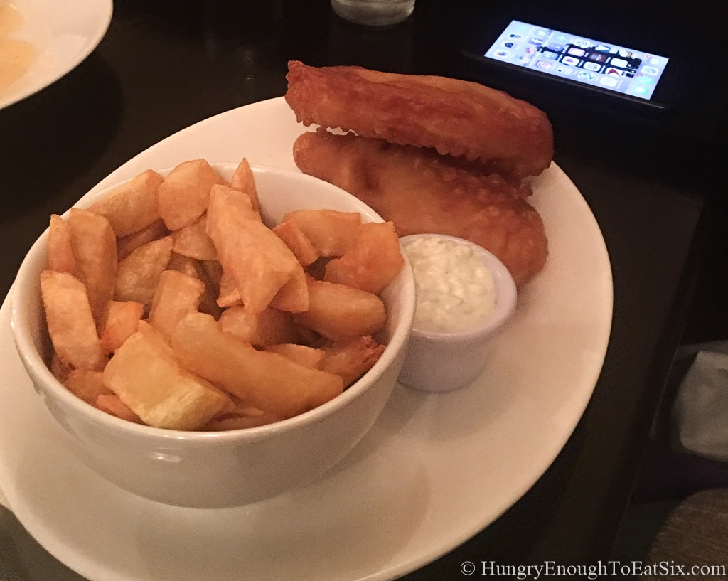 Image of fish and chips at Harbour Restaurant, Donegal
