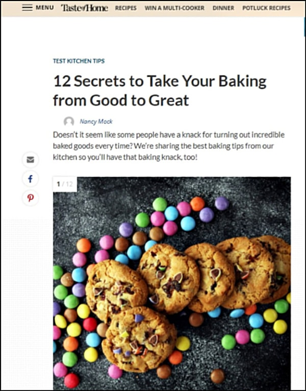 Doesn't it seem like some people have a knack for turning out incredible baked goods every time? We're sharing the best baking tips from our kitchen so you'll have that baking knack, too! Article by Nancy Mock for Taste Of Home.com.
