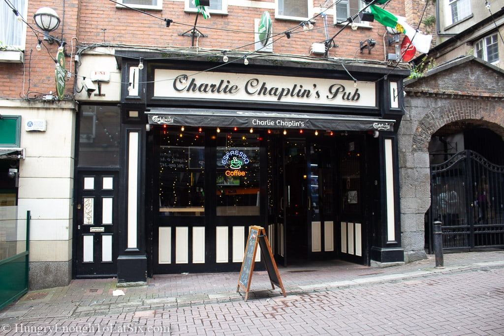 Exterior of Charlie Chaplin's Pub in Limerick, Ireland.